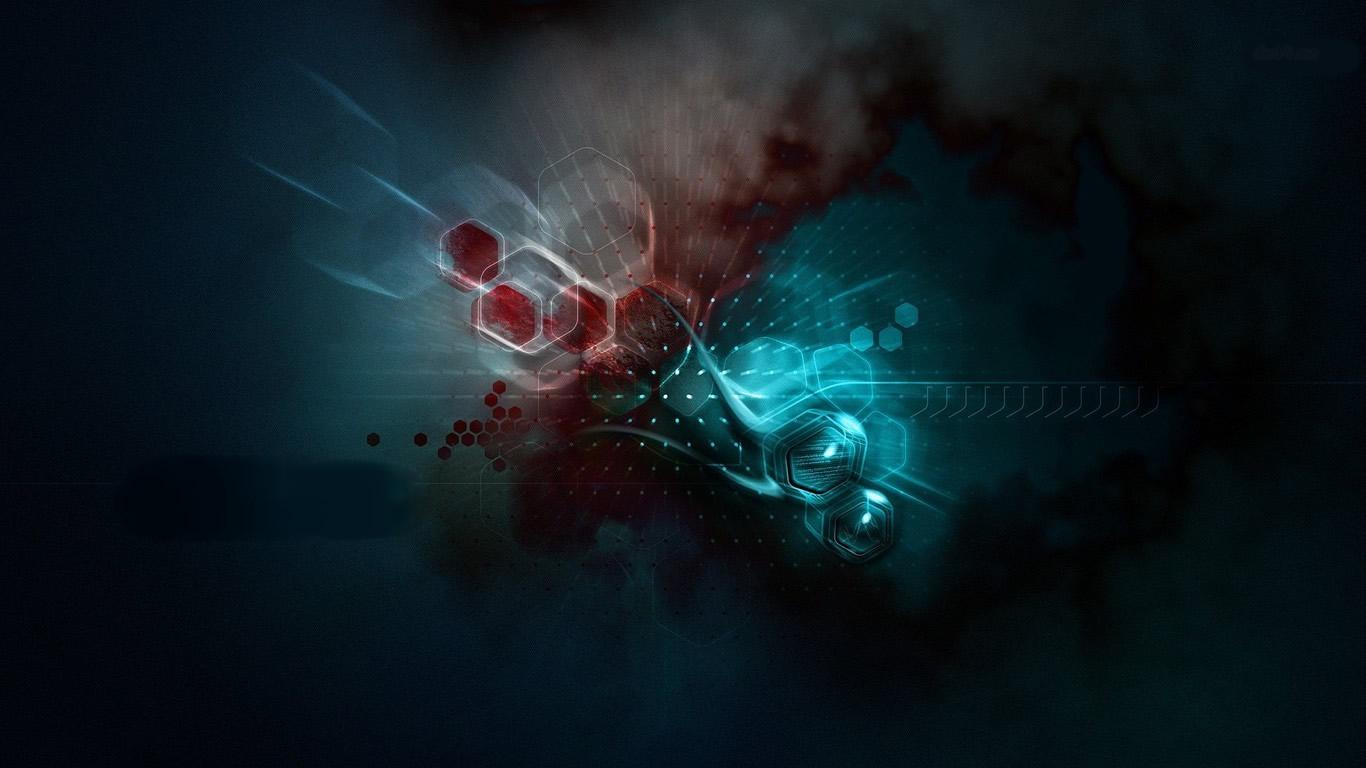 17608-degraded-molecules-1366x768-abstract-wallpaper